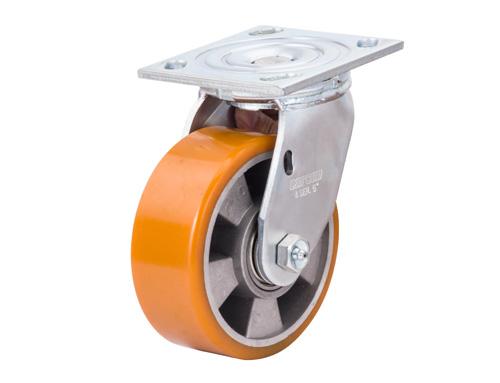 重型铝芯聚氨酯万向脚轮