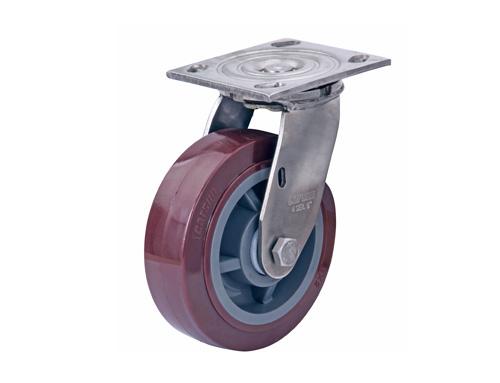 活动不锈钢聚氨酯脚轮