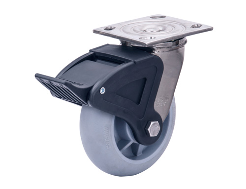 6寸重型不锈钢tpr脚轮