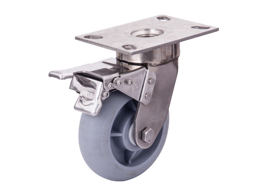 6寸重型抗冲击不锈钢超级人造胶轮