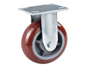 固定底板抗冲击重型PU脚轮