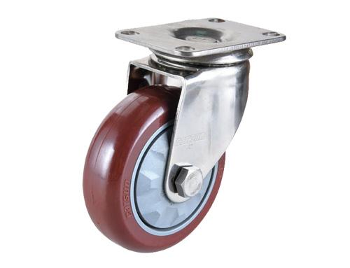 不锈钢活动防缠绕pu脚轮