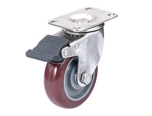 不锈钢pu脚轮