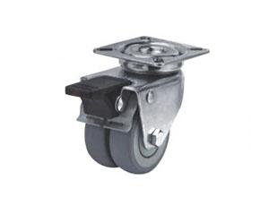 底板型带全刹万向橡胶脚轮