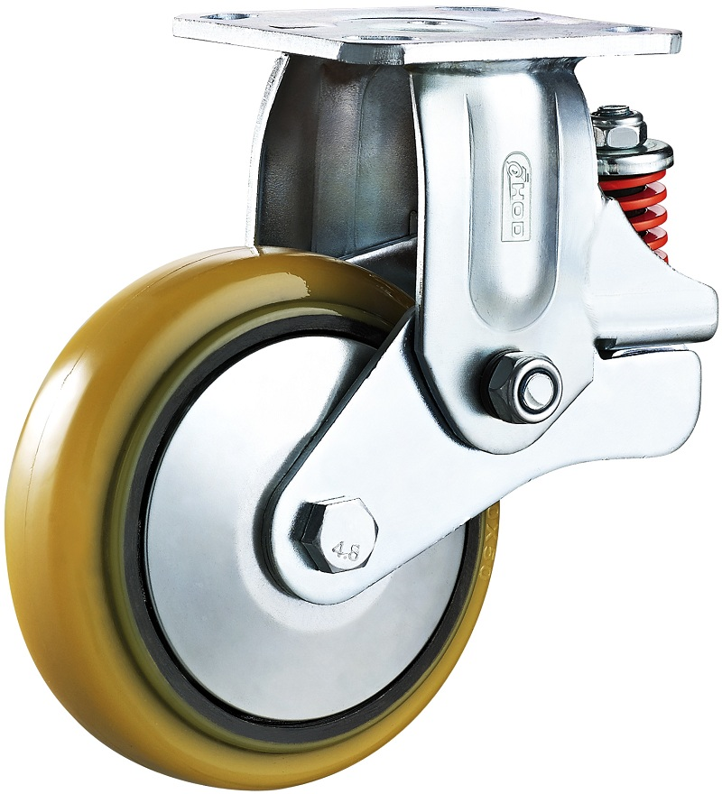 重型减震脚轮