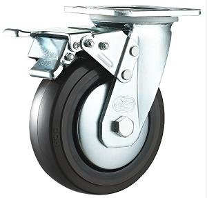 双刹橡胶轮